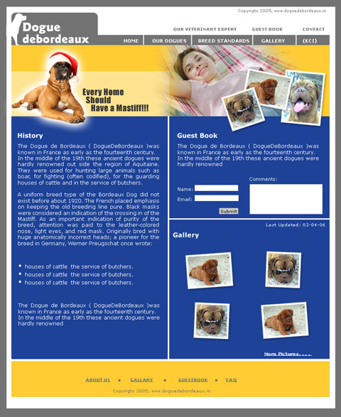 DoguedeBordeaux.in web site design